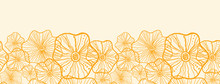 Vector Yellow Floral Shapes Ho...