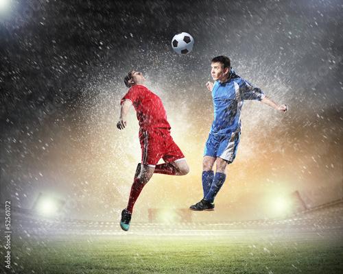 Foto op Aluminium Voetbal Two football player