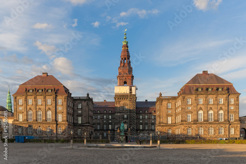 Christiansborg Palace in evening Poster