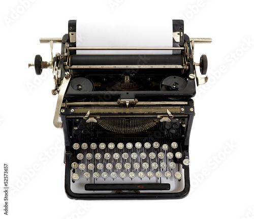 Fotobehang Retro vintage typewriter isolated on white background