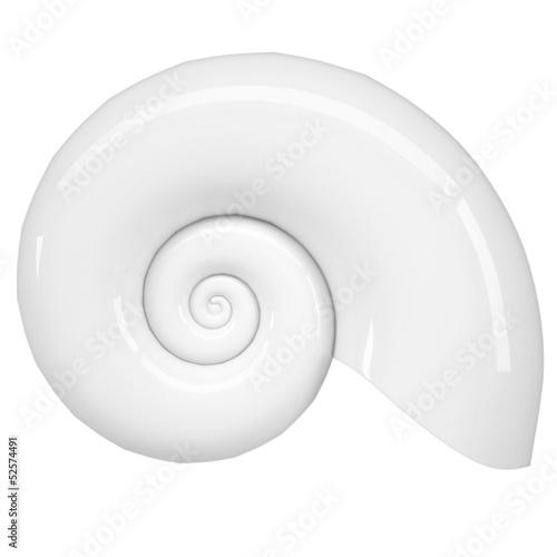 White spiral shell Canvas-taulu