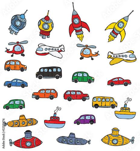 Fotografie, Obraz  Vehicles symbols