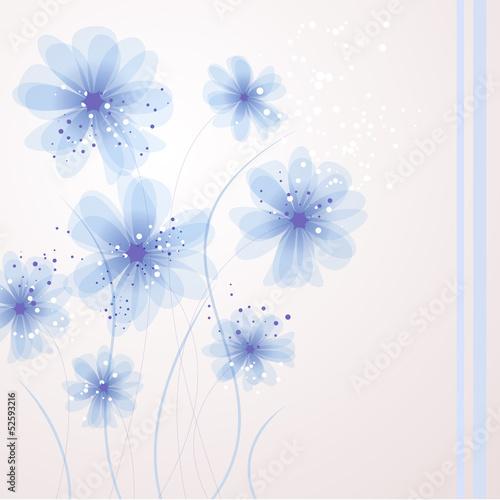 wektorowe-niebieskie-kwiaty-na-tle