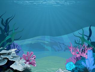 Fototapeta na wymiar Underwater landscape