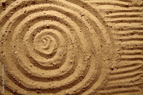 Foto op Plexiglas Stenen in het Zand yellow sand texture (circles)