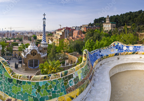 Photo  Parc Guell Barcelona