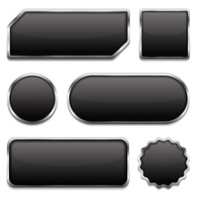Black Buttons With Metallic Fr...