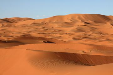 Fototapeta na wymiar Sand dunes of Erg Chebbi in the Sahara Desert, Morocco