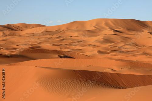 Poster Maroc Sand dunes of Erg Chebbi in the Sahara Desert, Morocco