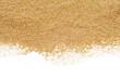 Leinwandbild Motiv sand on a white background