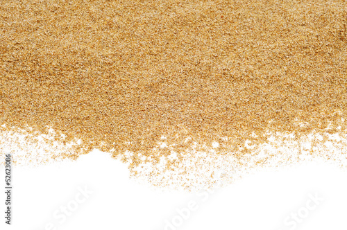 Photo  sand on a white background