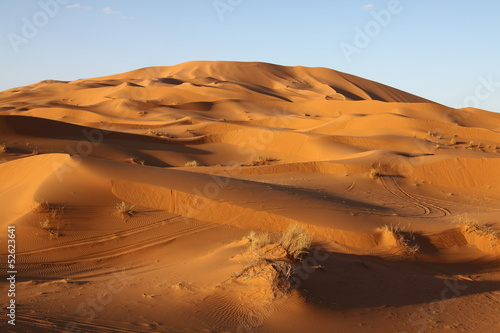 Deurstickers Marokko Sand dunes of Erg Chebbi in the Sahara Desert, Morocco