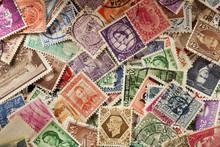 Colorful Vintage Used Postage ...