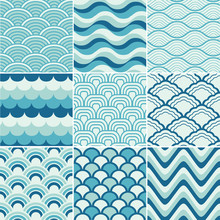 Seamless Retro Wave Pattern Pr...