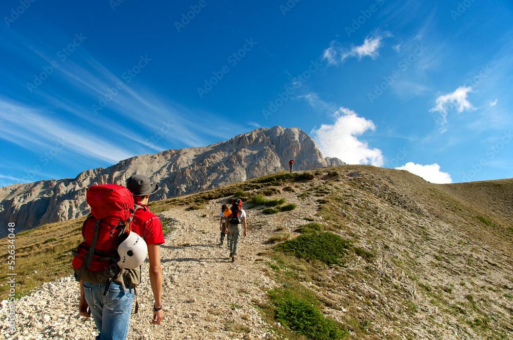 Fototapety, obrazy: Corno Grande, Gran Sasso, L'Aquila, Abruzzo, Italy