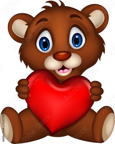 slodkie-dziecko-niedzwiedz-brunatny-kreskowka-pozowanie-z-milosci-serca
