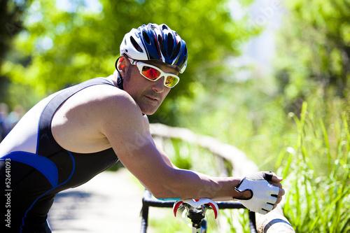 Fotografie, Obraz  Ciclista in pausa