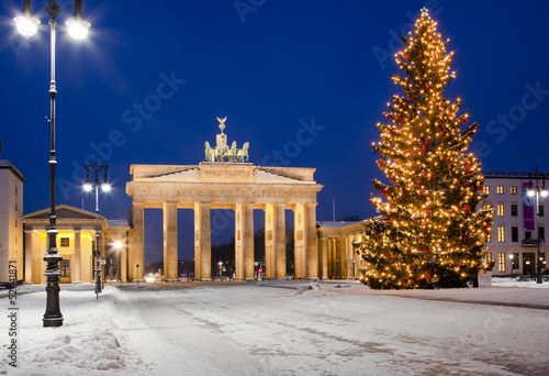 Tuinposter Berlijn Brandenburger Tor im Advent