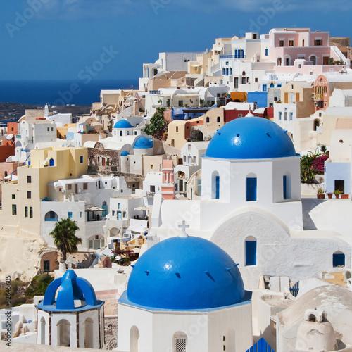 Papiers peints Santorini White village of Oia