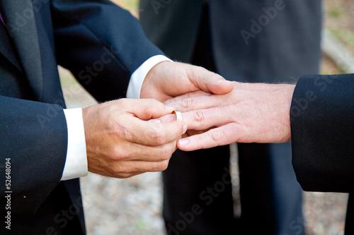 Fotografie, Obraz  Gay Snubní prsteny Výměna