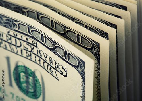 Fotografie, Obraz  $100 dollar bills