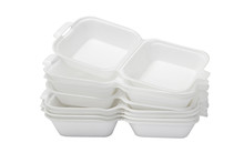 Open Styrofoam Boxes