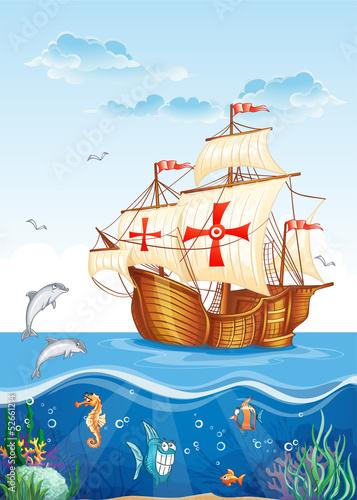 ilustracja-dla-dzieci-swiata-wody-z-zaglowca