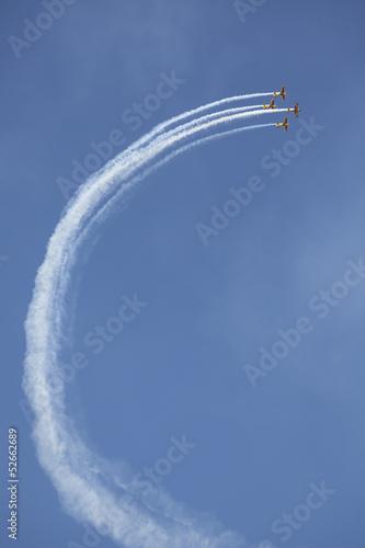 airplane smoke sensation Canvas Print