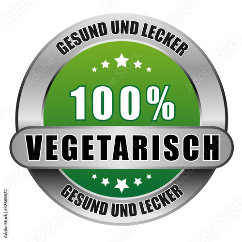 Photo  5 Star Button grün 100% VEGETARISCH GUL GUL