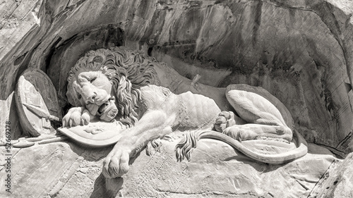 Photographie  Dying lion monument in Lucerne