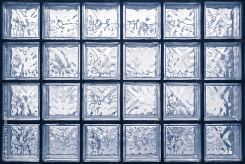 glass block wall Tableau sur Toile