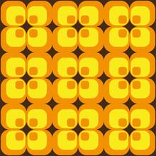 70er Retro Muster Quadrate