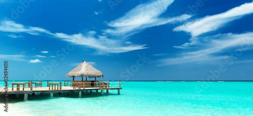 Motiv-Rollo Basic - tropische Strandbar (von Loocid GmbH)