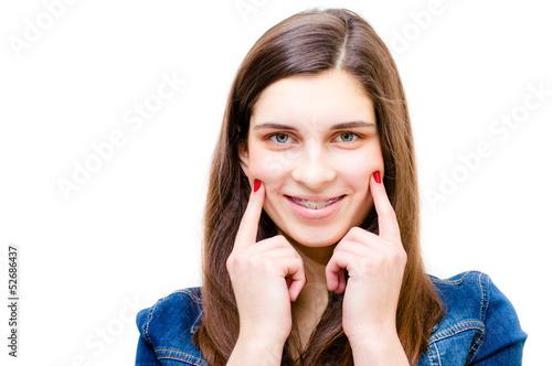 Fotografia  Happy teenage girl funny smiling