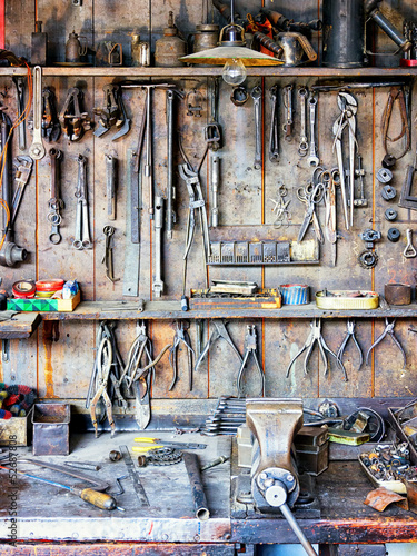 Fotografie, Obraz  old workbench