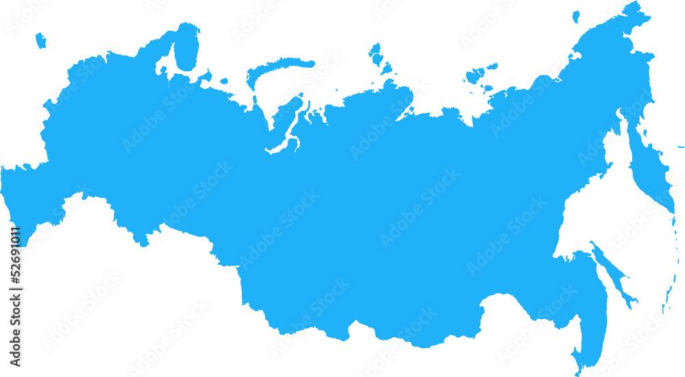 Fototapety, obrazy: Russian Federation Map
