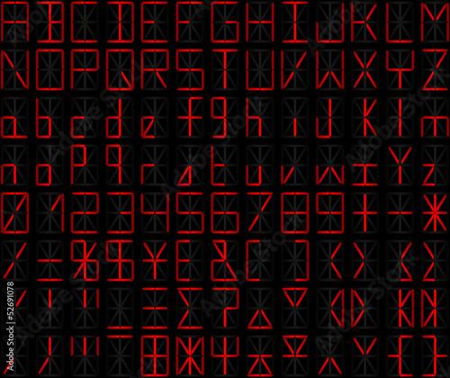alphanumérique rouge Canvas Print