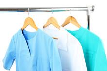 Medical Clothing On Hunger Isolated On White