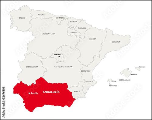 Autonome Regionen Spanien Karte.Autonome Region Andalusien Spanien Kaufen Sie Diese