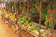 Fruit Stand In Small Village, ...