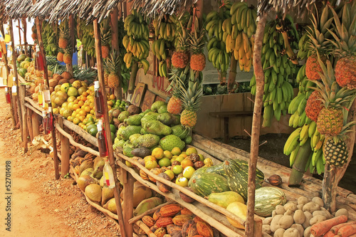 Fruit stand in small village, Samana peninsula