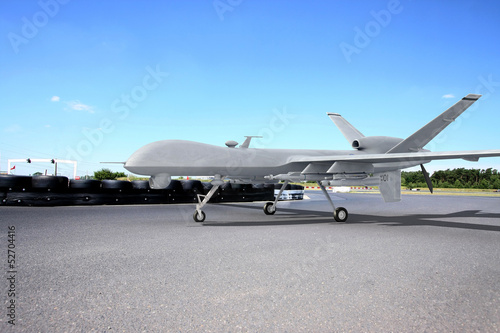 Predator drone on runway Poster