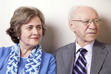 Elderly Couple Looking Away - ...