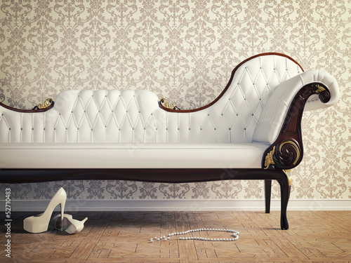 Foto op Canvas Retro vintage sofa