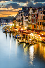 Fototapeta Wenecja Grand Canal at night, Venice