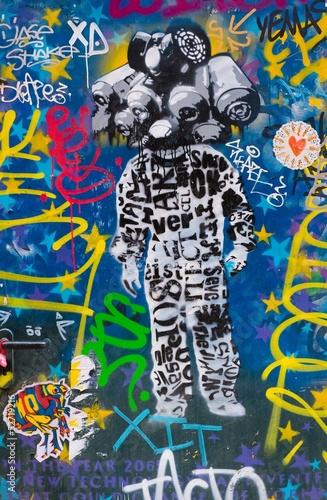 Tuinposter Imagination BARCELONA - MARCH 22: Street art at El Born district