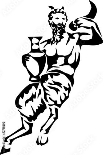 Fototapeta stylized satyr