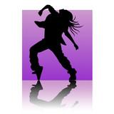 Break dancer purple square