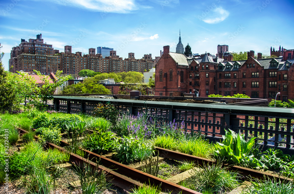 Fototapeta HIgh Line, urban public park, New York City, Manhattan