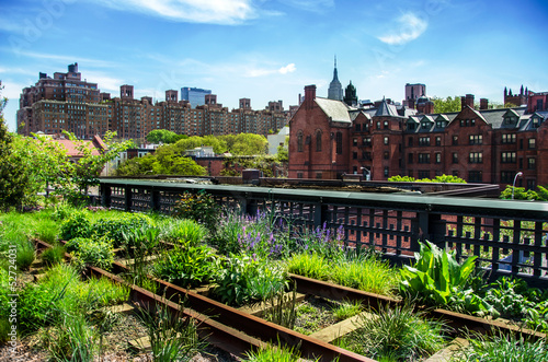 HIgh Line, urban public park, New York City, Manhattan Poster